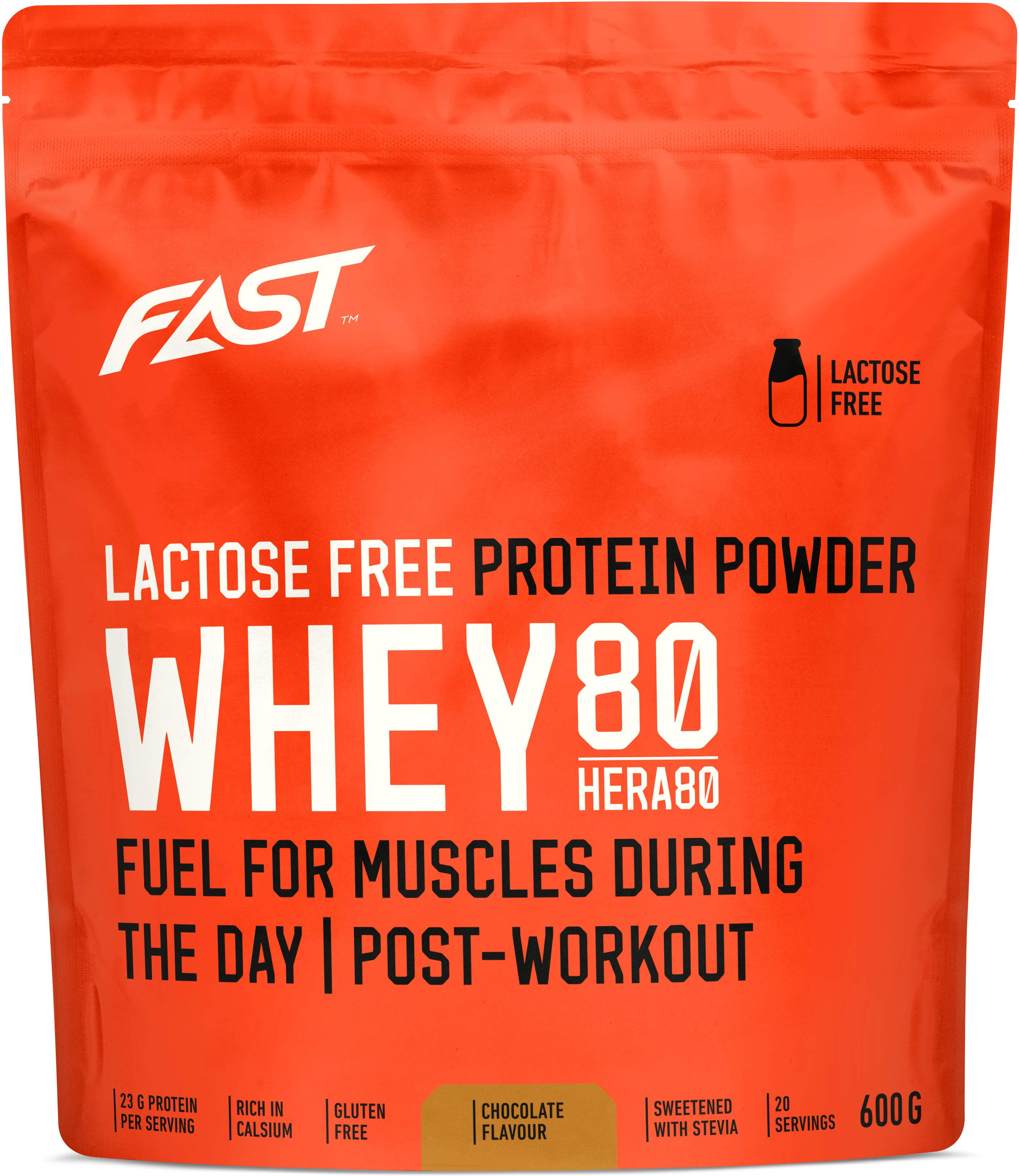 Polvo FAST Whey80 600 g chocolate lactose free